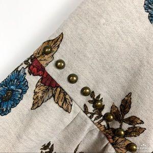 NWT Democracy Fall Floral Studded Sweatshirt